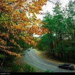 طبیعت پاییزی جاده اسالم به خلخال