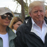 سفر پرحاشیه ترامپ و ملانیا به پورتوریکو به روایت تصاویر
