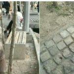 ربوده شدن مجسمه کودک در میدان ونک تهران!