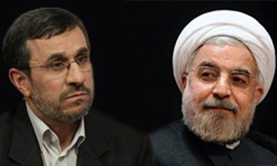 قدردانی احمدی نژاد از روحانی