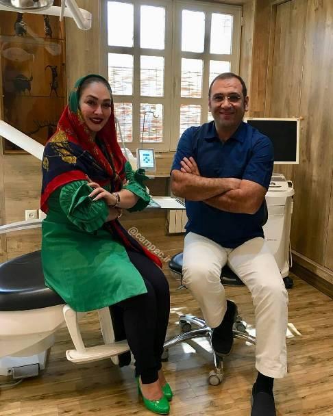 الهام حمیدی و دکتر دندانپزشکش