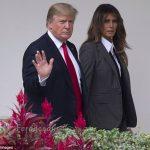 تیپ عجیب ملانیا ترامپ سوژه عکاسان شد!