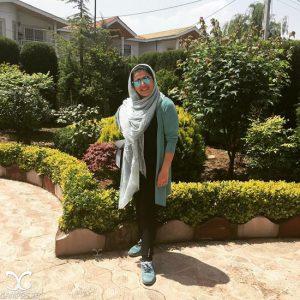 تیپ مژگان بیات خارج از کشور و توضیحش در مورد حجاب