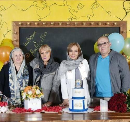 حضور هنرمندان و بازیگران در جشن تولد پرستو صالحی