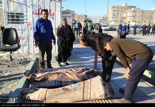 کشته های زلزله کرمانشاه
