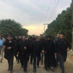 محسن هاشمی، علی نیکزاد و محمد حسینی در مسیر کربلا