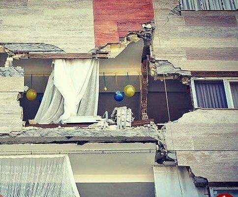 جشن تولد هنگام زلزله