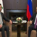بشار اسد در روسیه با پوتین دیدار کرد