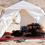 حضور فرزندان آیت الله هاشمی در چادر زلزله زدگان سرپل ذهاب
