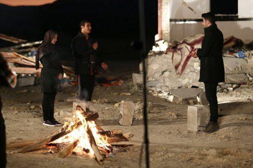 گفتگوی علی ضیا با زن زلزله زده