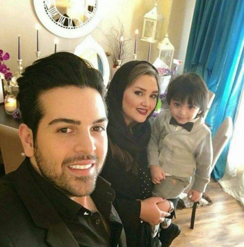 عماد طالب زاده با همسر و فرزندش