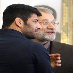 تقدیر علی لاریجانی از علیرضا کریمی