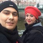 رضا داوودنژاد و همسرش در جشن نفس به یاد عسل بدیعی
