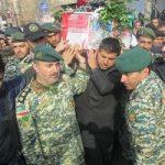 مراسم تشییع شهید سروان محسن برزگرزاده