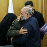 دیدار خانوادههای شهدای پلاسکو با محسن هاشمی