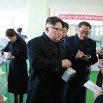 رهبر کره شمالی و همسرش در کارخانه داروسازی
