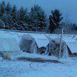 مردم زلزلهزده کوهبنان در محاصره برف و سرما !