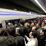 هجوم مردم به ایستگاه های مترو درپی بارش برف!