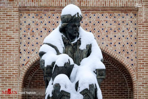 بارش برف زمستانی در اردبیل