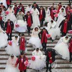 ازدواج دسته جمعی چینی ها در جشنواره یخی هاربین!