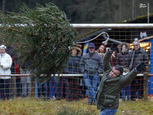 مسابقه پرتاب درخت کریسمس!