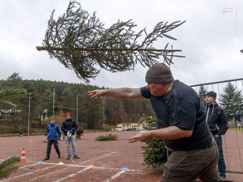 مسابقه پرتاب درخت کریسمس