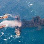 تصاویر رویترز از نفتکش ایرانی که در آبهای چین آتش گرفت!
