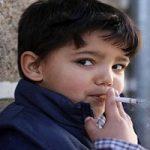 مراسم جنجالی سیگار کشیدن کودکان!