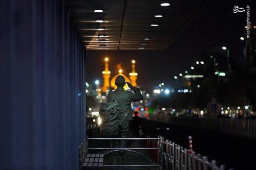 احترام یک سرباز به امام رضا