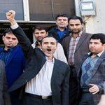 حضور احمدینژاد مقابل دادگاه حمید بقایی!