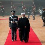 استقبال رسمی مقامات هندوستان از روحانی