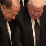 جشن تولد رئیس جمهوری عراق برای همتای لبنانی!
