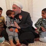 دیدار چهره به چهره روحانی با زلزله زدگان کرمان در چادرهایشان!