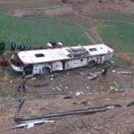 ۱۳ کشته و مجروح بر اثر سقوط اتوبوس به دره در یاسوج!