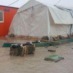 تداوم باران شرایط زلزله زدگان را بحرانی کرد!