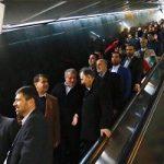 متروسواری شهردار و رئیس شورای تهران در روز ۲۲ بهمن