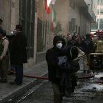 تجمع مردم در محل آتش سوزی ساختمان وزارت نیرو!
