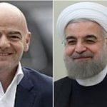 رئیس فیفا در فرودگاه با روحانی دیدار کرد!