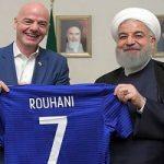 پست اینستاگرام حسن روحانی پس از دیدار با رییس فیفا !