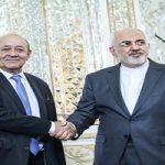 دیدار محمد جواد ظریف و وزیر خارجه فرانسه