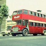 پارکینگ نخستین و آخرین اتوبوسهای دو طبقه در تهران قدیم