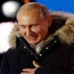 جشن پیروزی ولادیمیر پوتین در انتخابات ! + تبریک حسن روحانی