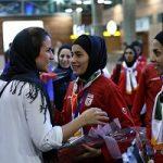 حضور مهناز افشار در بازی فوتسال بانوان ایران و اوکراین