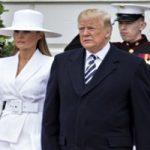 بوسه ماکرون به دست ملانیا + مجسمههای مومی ترامپ و همسرش!