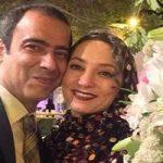 سحر ولد بیگی و همسرش نیما فلاح و کیک ۱۰ سال زندگی مشترک