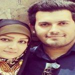 مژده خنجری و همسرش در مراسم گلاب گیری در نیاسر کاشان