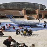 تصاویر عجیب و دیدنی از نهنگ ۱۰متری در مرکز رم