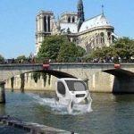 تصویری جالب از تاکسی پرنده در پاریس