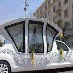 طراحی جالب و عجیب ماشین عروس با شعار متفاوت در ایران