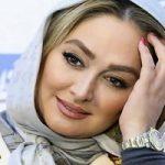 تیپ الهام حمیدی در مراسم افطار خیریه مهر لیلا